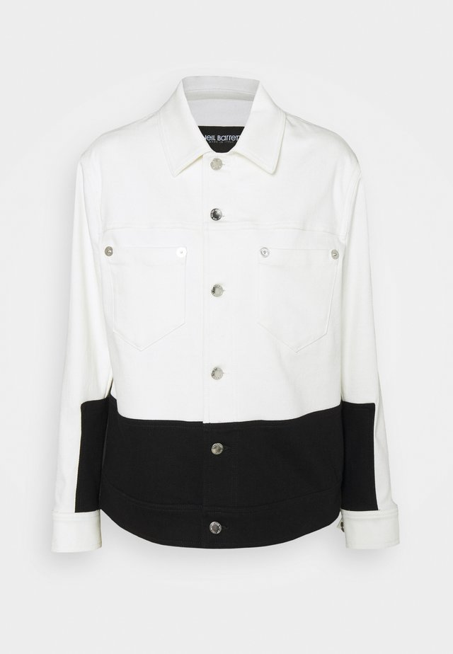 SKINNY JACKET - Veste en jean - off white/black