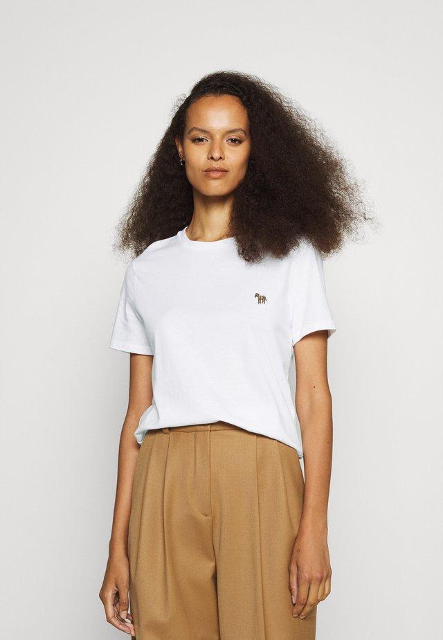 WOMENS ZEBRA - T-shirt basic - white