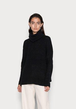 VMLEANNA COWLNECK - Stickad tröja - black