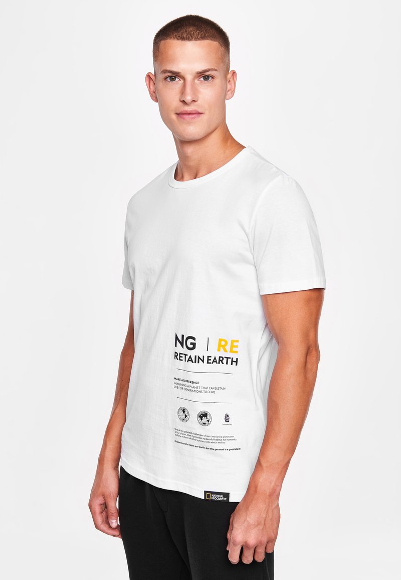 National Geographic - MIT PRINT - Print T-shirt - white