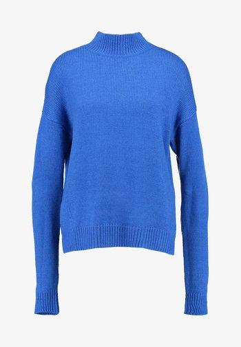 Oversize Turtleneck - Jumper - bright blue