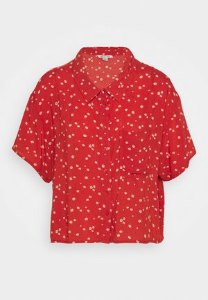 CORE CROP - Button-down blouse - red