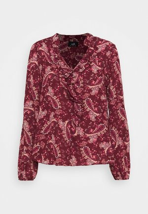 PRETTY PAISLEY DOUBLE RUFFLE - Blouse - berry