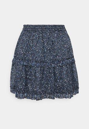 FLORAL SKIRT - Mini skirt - light blue