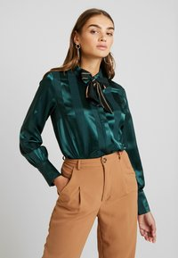 YAS - YASAUDREY LS BOW SHIRT  SHOW - Blouse - green gables - 0