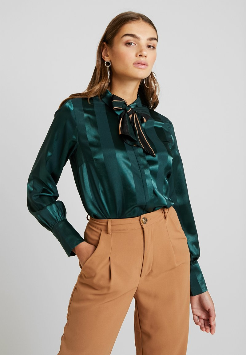 YAS - YASAUDREY LS BOW SHIRT  SHOW - Blouse - green gables