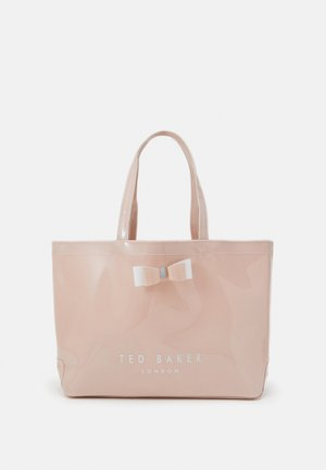 HATICON WIDE BOW ICON - Shopping bag - dusky pink