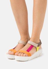 Wonders Green - Platform sandals - orange - 0