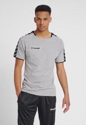HMLAUTHENTIC - Print T-shirt - grey melange