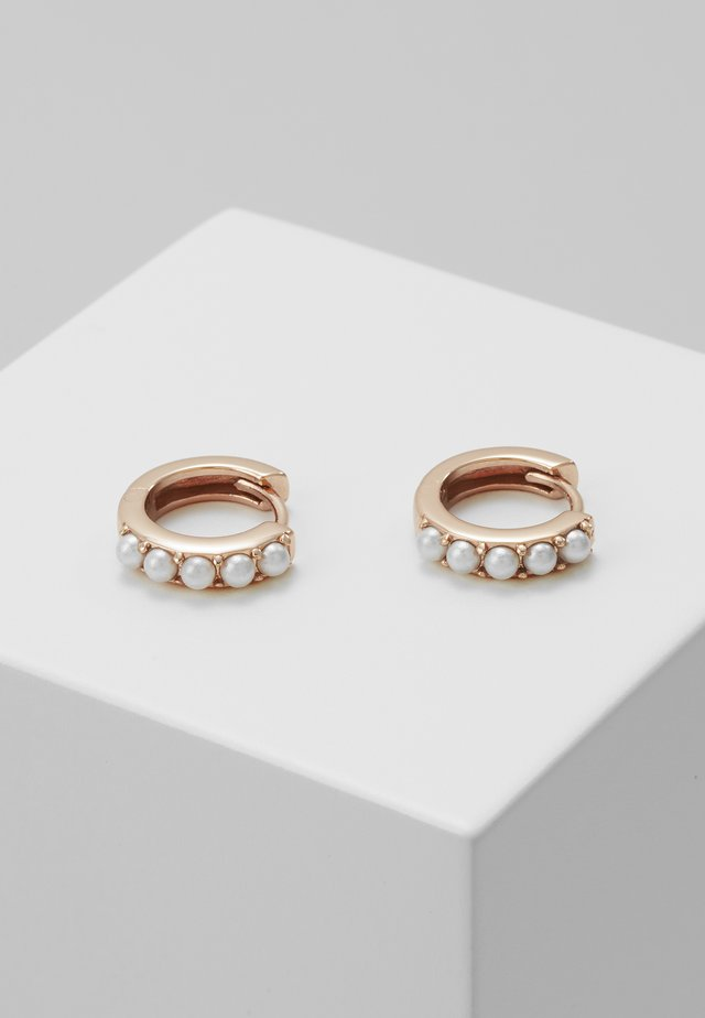 HUGGIE HOOP - Earrings - rose gold-coloured