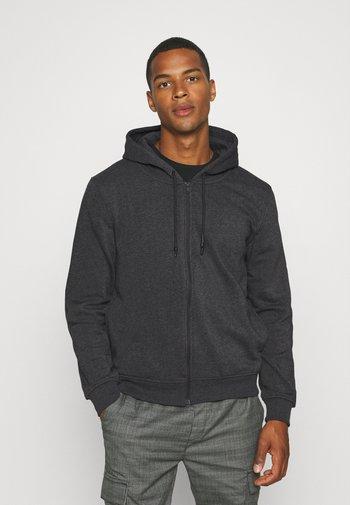 Zip-up sweatshirt - dark charcoal marl