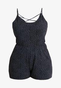 Urban Classics Curvy - LADIES ANIMAL SHORT SPAGHETTI  - Jumpsuit - charcoal - 5
