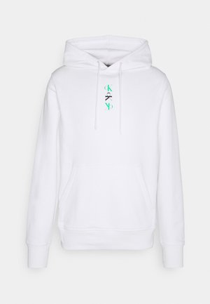 REPEAT TEXT GRAPHIC HOODIE UNISEX - Sweat à capuche - bright white