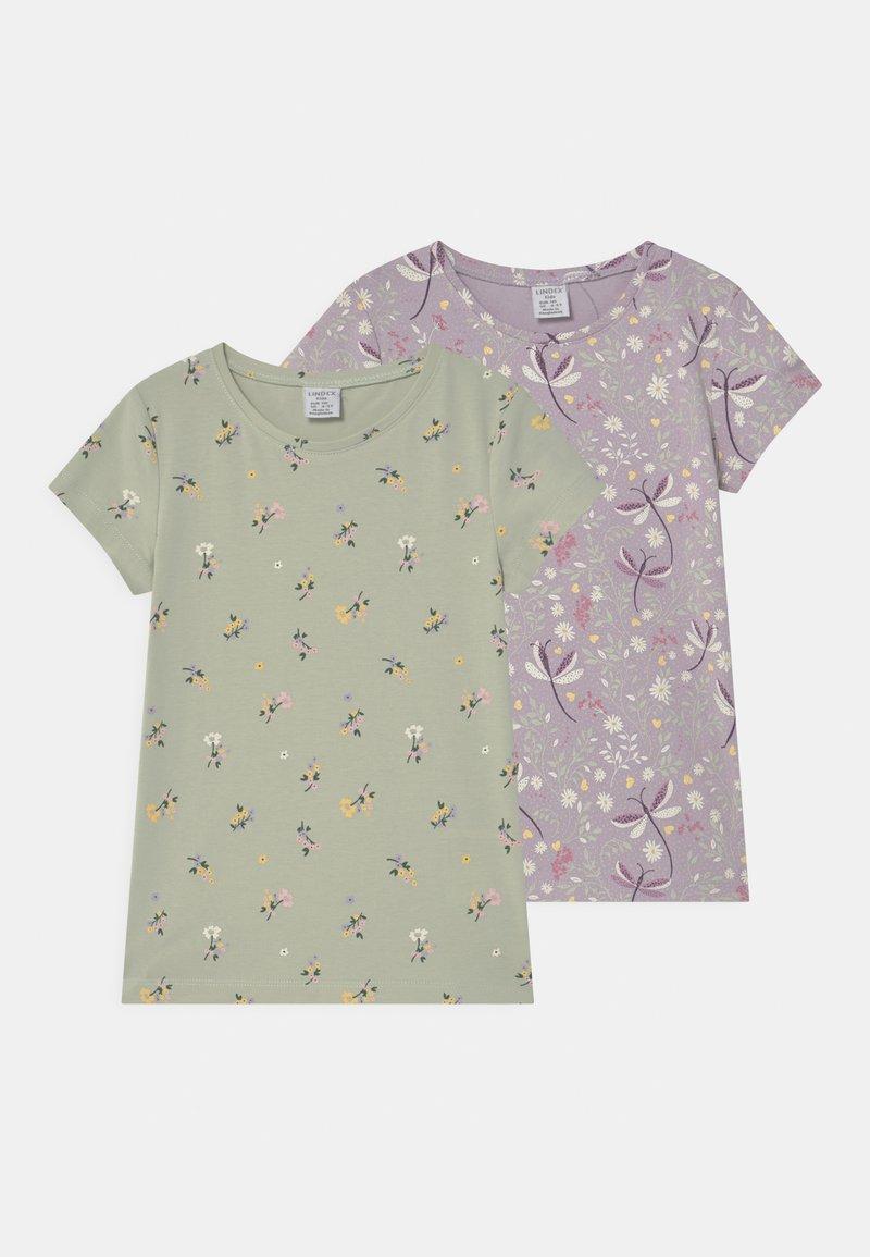Lindex - MINI 2 PACK - Print T-shirt - light lilac