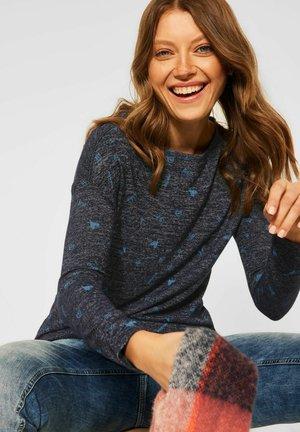 MELANGE OPTIK - Long sleeved top - blau