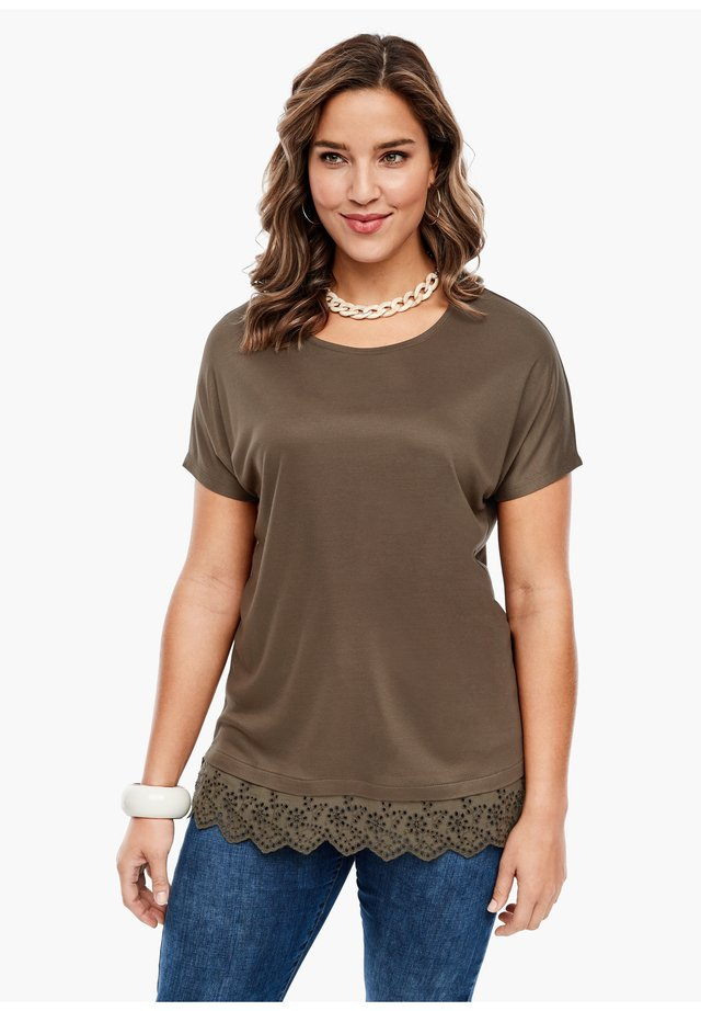 Print T-shirt - brown