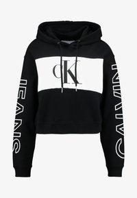 Calvin Klein Jeans - BLOCKING STATEMENT LOGO HOODIE - Sweat à capuche - black/white - 3