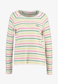 SLUB CREW NECK - Camiseta de manga larga - offwhite/multicolor