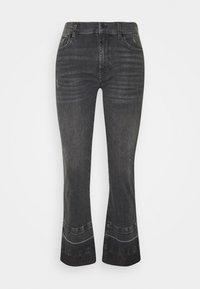 7 for all mankind - CROPPED UNROLLED ILLUSION EPIC - Bootcut jeans - black - 0
