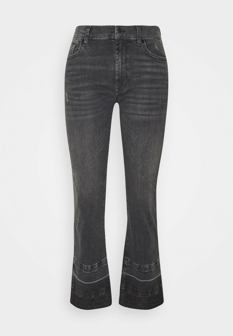 7 for all mankind - CROPPED UNROLLED ILLUSION EPIC - Bootcut jeans - black