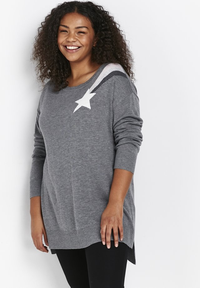 SHOOTING STAR - Pullover - grey