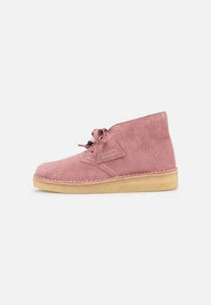 DESERT COAL - Lace-up ankle boots - dusty pink
