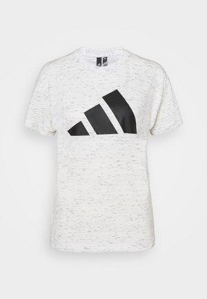 WIN TEE - Print T-shirt - white melange