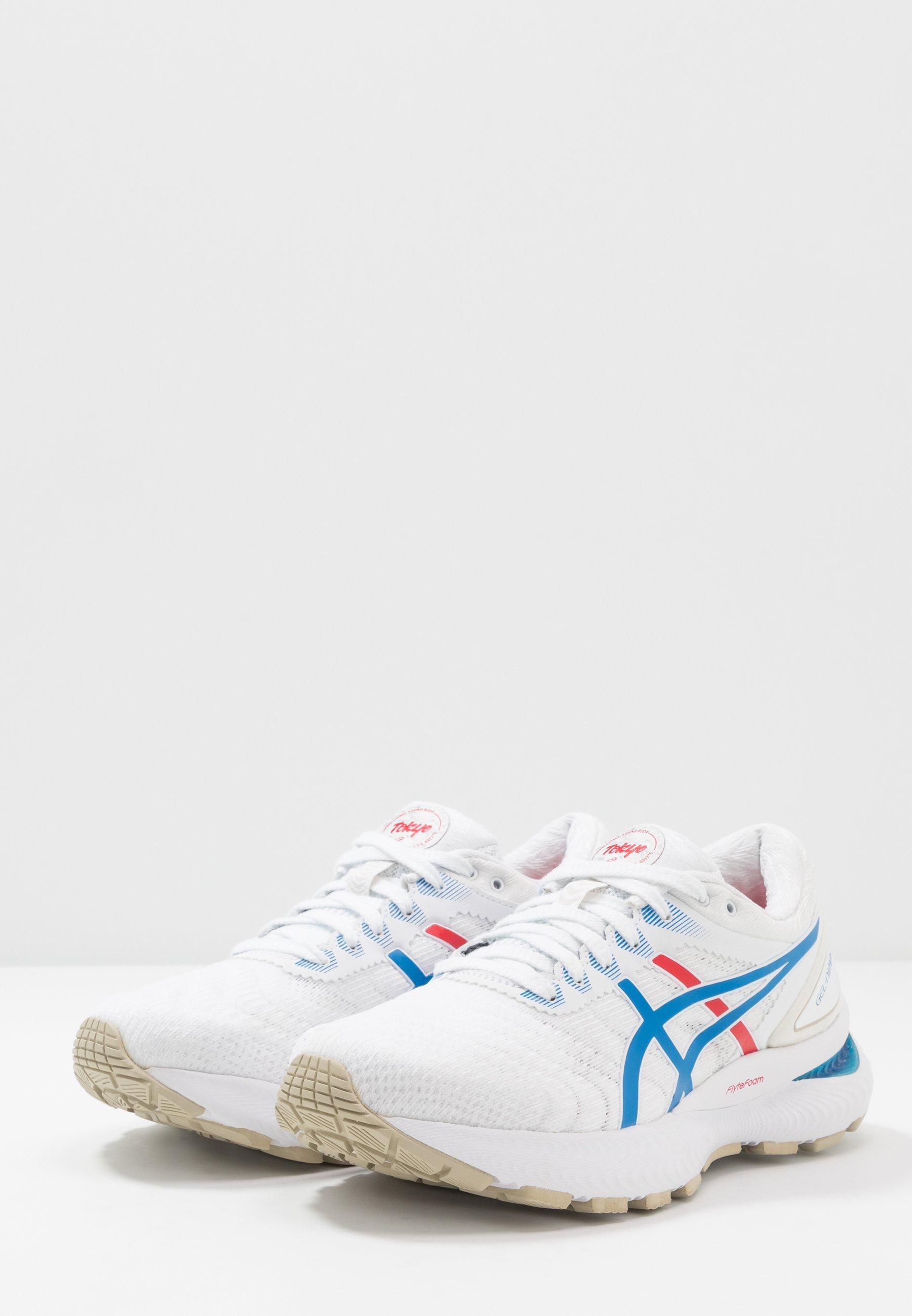 GEL-NIMBUS 22 RETRO TOKYO - Zapatillas de running neutras - white/electric  blue