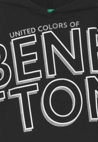 Benetton - BASIC GIRL - Mikina skapucí - black - 2