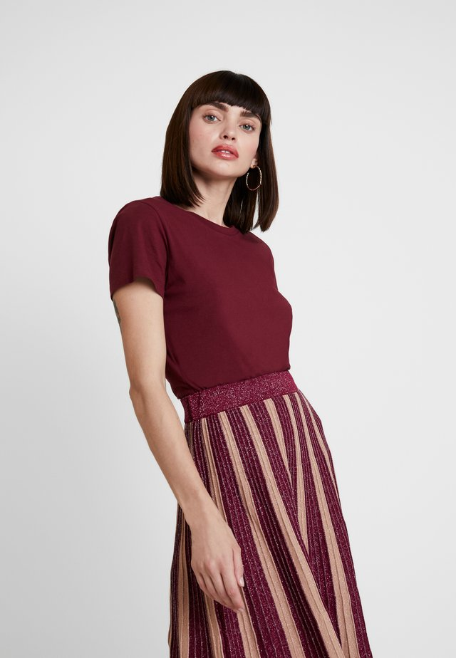 SOLLY TEE SOLID - T-shirt basique - dark red