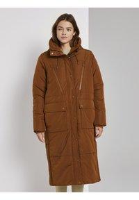 TOM TAILOR DENIM - PADDED LONG COAT - Winterjas - burnt hazelnut brown - 1