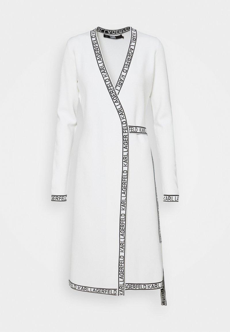 KARL LAGERFELD - WRAP DRESS - Jumper dress - white
