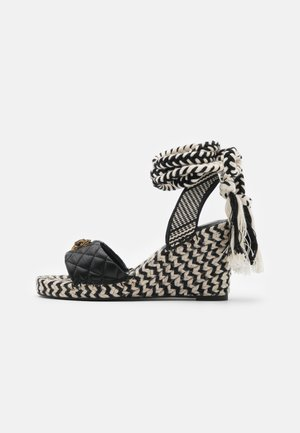 MILA WEDGE - Platform sandals - black