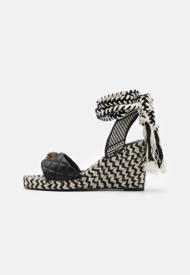 MILA WEDGE - Sandalen met plateauzool - black