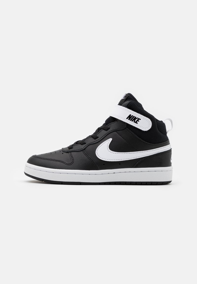 Nike Sportswear - COURT BOROUGH MID 2 UNISEX - Sneakers hoog - black/white