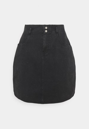 NMASHLEY SKIRT - Mini skirt - black