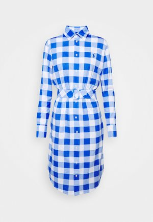 Shirt dress - new iris/white