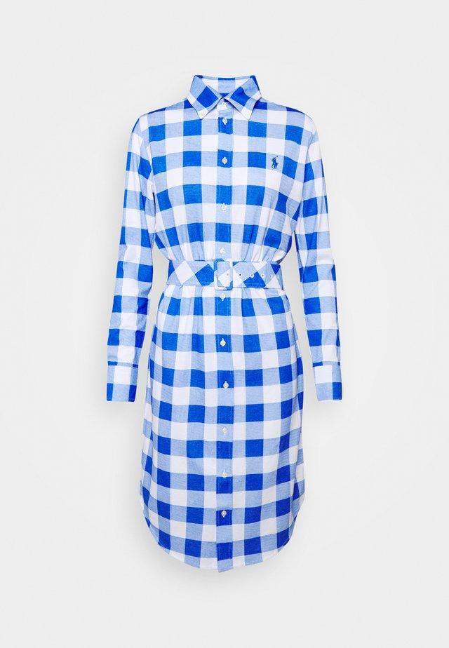 Shirt dress - new iris/white