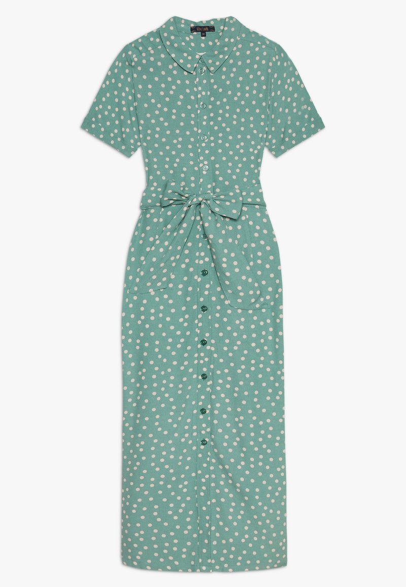 King Louie - ROSIE MIDI DRESS DOMINO DOT - Shirt dress - spar green