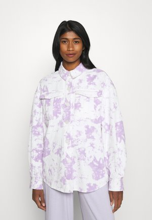 JAIMY TIE DYE BOYFRIEND BLOUSE - Skjorte - lilac