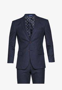 MINI CHECK SUIT - Suit - navy