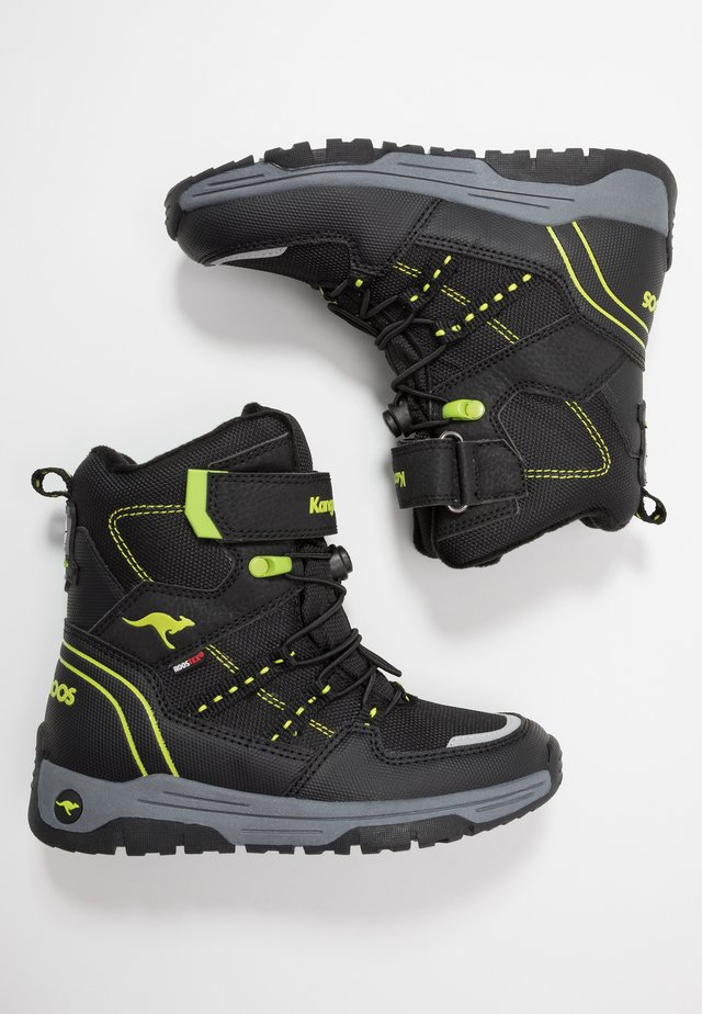 K-NOVICE RTX - Veterboots - jet black/lime
