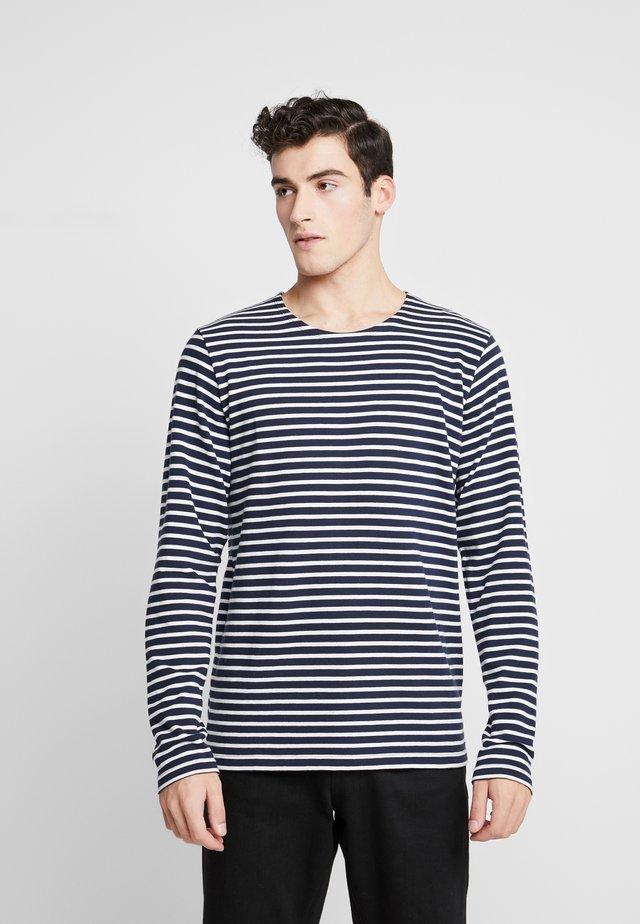 THE ORGANIC STRIPED - Sweter - navy blazer