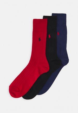 EGYPT CREW 3 PACK - Socks - royal/black/red