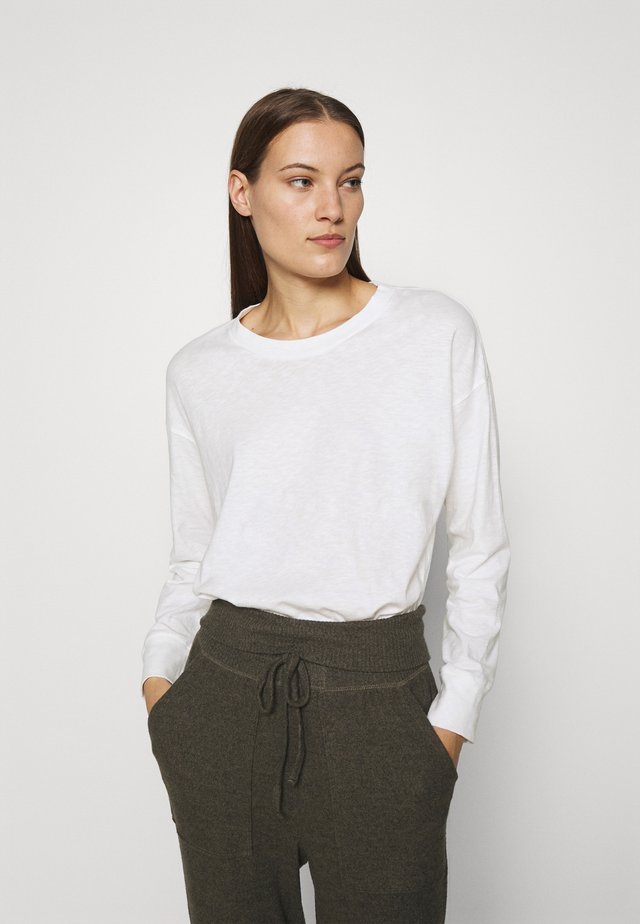 TEE CUFFS - T-shirt à manches longues - white
