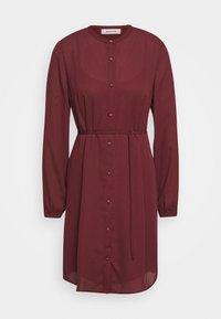 FILO PRINT DRESS - Shirt dress - maroon grid