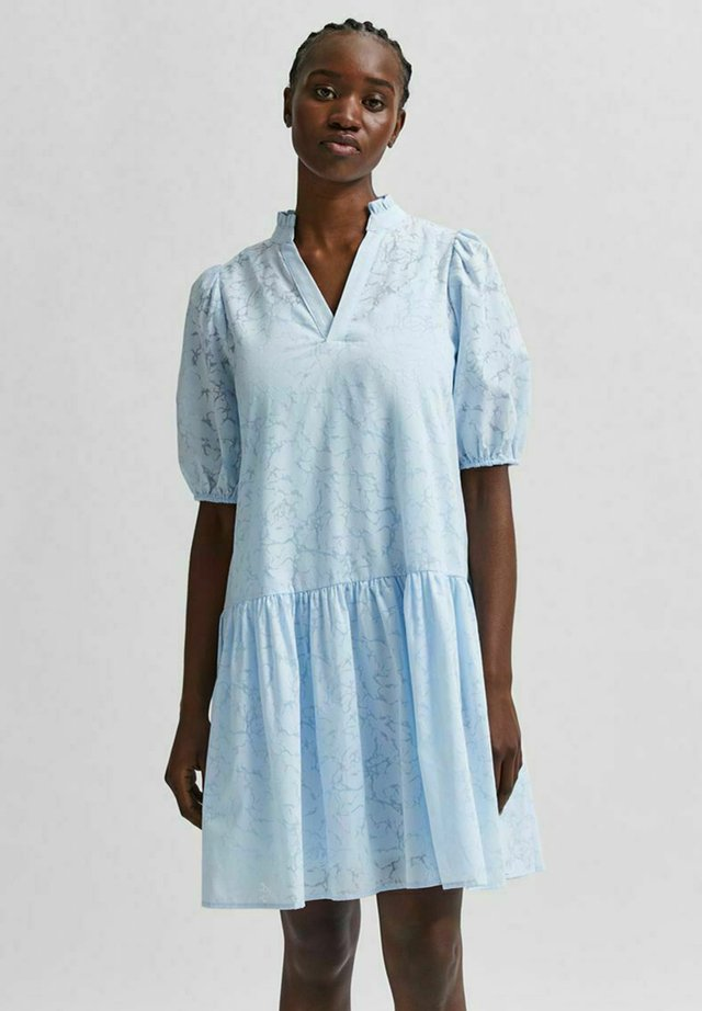 SLFPERNILLA DRESS - Korte jurk - arctic ice
