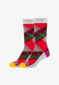 Fun Socks - 2ER PACK - Socks - red - 0