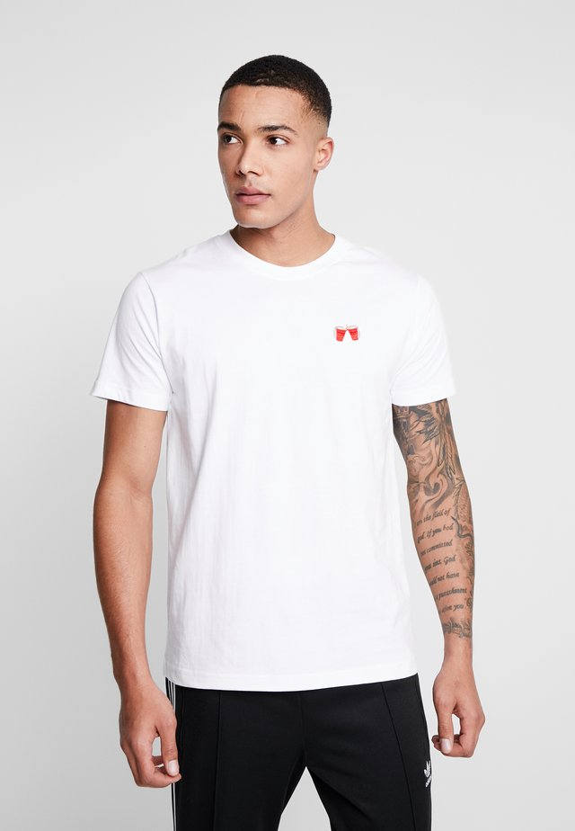 WASTED TEE - T-shirt print - white
