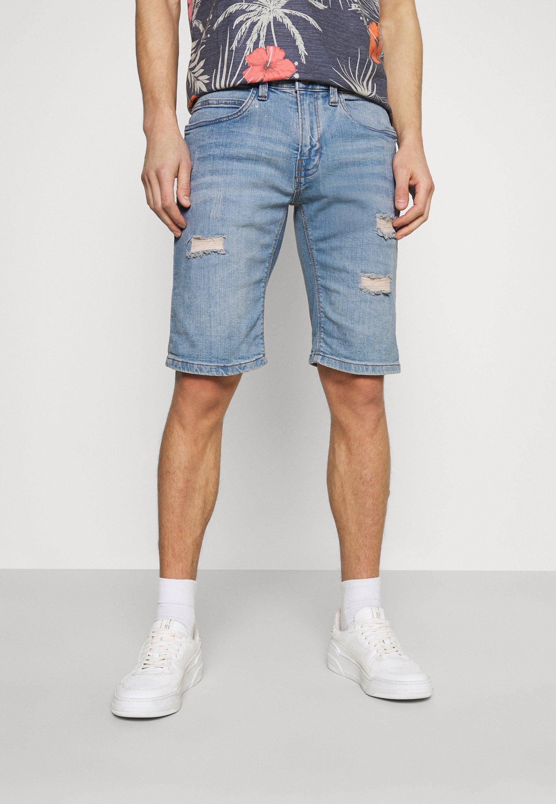 Men KADEN HOLES - Denim shorts